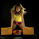 Girl Listening Dancing Retro Audio 5