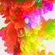Colorful Paint Ink Drops Splash in Underwater 50