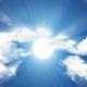 Cloud Journey with Sun Light Burst - Front View