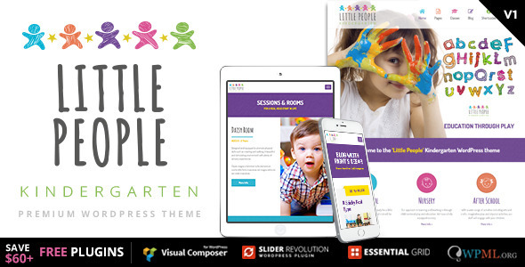 Little People - Kindergarten WordPress Theme for PreScool