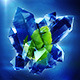 Logo 3D Crystal Explosion