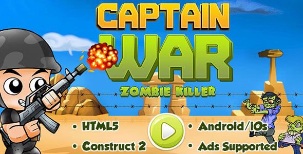 Captain Conflict : Zombie Killer - HTML5 Android (CAPX) - PHP Script Download 1