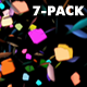 Confetti - Rainbow Particles - Pack of 7