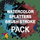 Watercolor, Paint Splatters & Brush Stroke PACK