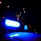 Alarm Police Flashing Light Siren At Night