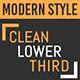 Modern Clean Lower Third