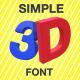 3D Simple Swinging Font