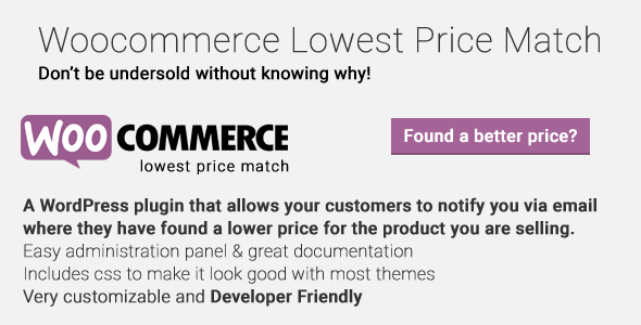 Woocommerce Lowest Designate Match - PHP Script Download 1