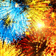Festive Fireworks Abstract Background
