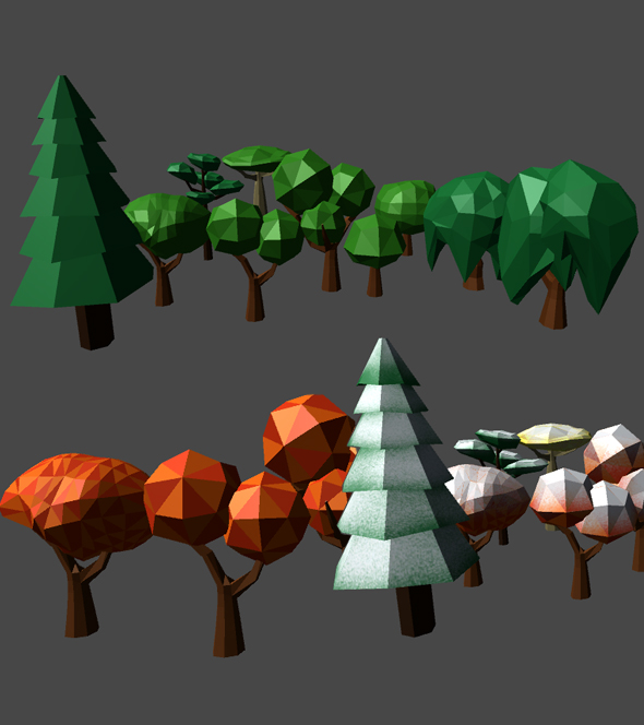 Low Poly Forest Tree Pack