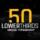 50 Minimal Lower Thirds