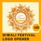 Happy Diwali Festival Logo Opener