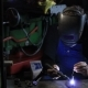 Welder Man Tig Welding In Workshop.