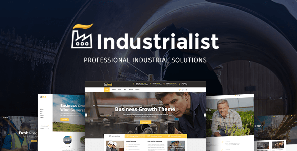 Industrialist - Theme for Industry and Manufacturing Business