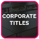 Corporate Titles