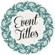 36 Event Titles