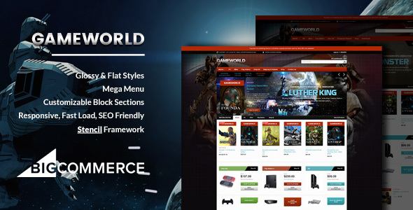 01 Gameworld Game Store Responsive BigCommerce Theme. large preview
