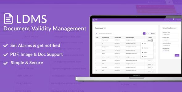 , LDMS – Document Validity Manager, Laravel & VueJs