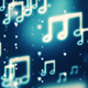 Music Notes Led Background