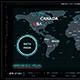 HUD Hologram World Map Touchscreen Display