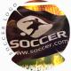 3D Football Flag Logo