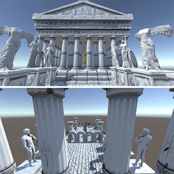 Ancient Greek City Pack I 33 GameReady Assets