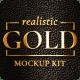 Gold Mockup Kit - Glossy Logo & Titles