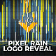 Pixel Rain Logo Reveal