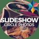 Circle Photos Slideshow
