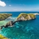 Stunning Natural Beauty and a Unique Shape of the Beach Atuh, Nusa Penida, Indonesia