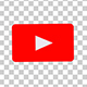 The Youtube Logo Transforms Into a Subscribe Button With Alpha Channel