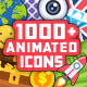 1000+ Flat Animated Icons Pack