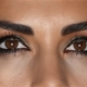 Girl with Make Up, Her Face Made Up Creams and Beautiful Eyes