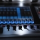 Sound Console for Audio Mix and Studio Recording