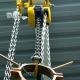 Chain Winch Lifts Copper Billet