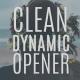 Clean Dynamic Opener