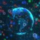 Social Networks Earth Hologram