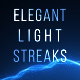 Elegant Light Streaks With Particles