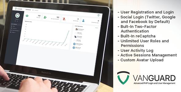 , Vanguard – Advanced PHP Login and User Management, Laravel & VueJs, Laravel & VueJs