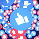 Four Falling Social Network Emoji: Like and Hearts with Alpha Channel (4 Videos))