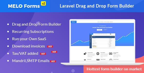 , MeloForms – Laravel Drag and Drop Form Builder Software, Laravel & VueJs