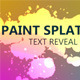Reveal Text and Logo with Paint Splatters