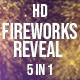Golden Fireworks Reveal