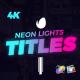 Neon Lights Titles for Final Cut Pro X