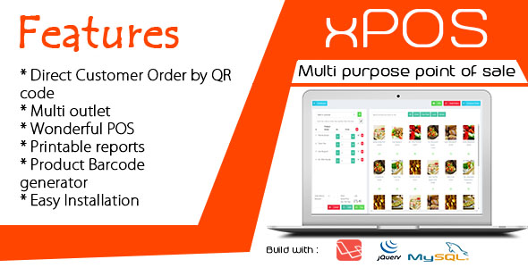 , xPOS – Multi purpose Point of Sale in PHP, Laravel & VueJs, Laravel & VueJs