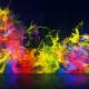 Rainbow Particles Logo Reveal