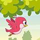 Cute Flying Cartoon Bird