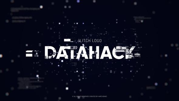 Glitch Logo – Data Hack