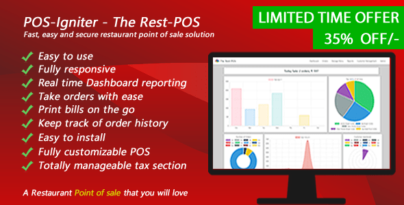 POS-Igniter - The Leisure-POS - Instant, easy and right restaurant level of sale resolution  - PHP Script Download 1