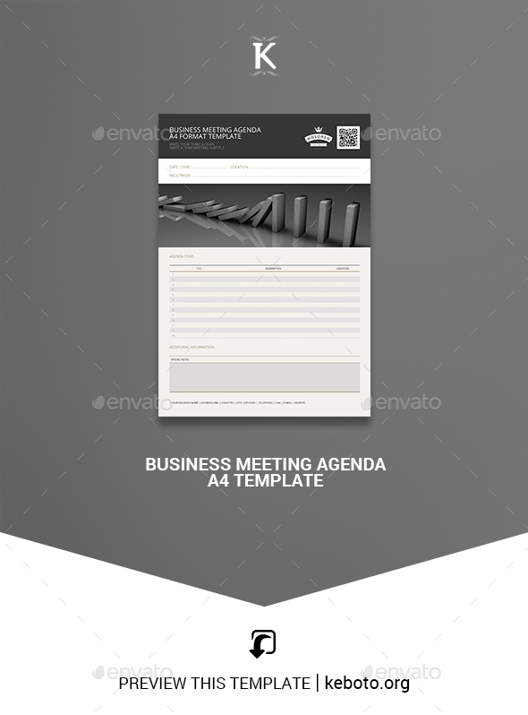 Free and premium plans sales crm software. Meeting Agenda Graphics Designs Templates From Graphicriver
